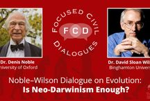 Noble–Wilson Dialogue on Evolution: Is Neo-Darwinism Enough? / Denis Noble and David Sloan Wilson discuss whether neo-Darwinian synthesis provides a reasonably complete and adequate account of biological phenomena, especially the appearance of teleology (function, purpose, goal-directedness) in virtually all biological structures and processes.