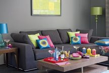 Grey Sofas / Cushion options for two new grey sofas April 2015 / by Gem .