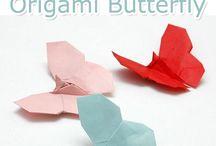 cuori di origami / carta piegata