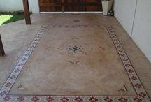 piso cimento queimado cozinha