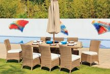 Garden Furniture / Outdoor furniture, great for relaxing in the sunshine, with a good book, or a BBQ with friends. Including rattan, hardwood, and textaline varieties.