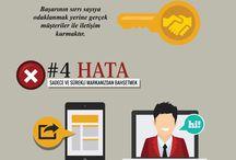 Dijital Pazarlama / Infographics about digital marketing