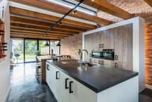 Modern landelijke keukens