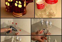 Plastic bottles castles