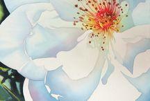watercolour dog rose 3