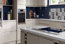 Contemporary Light Grey Handleless Kitchens / A truly outstanding contemporary style kitchen with a high gloss light grey finish and no handles.
