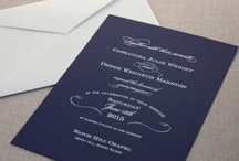 Wedding: Navy Blue / Crisp and classic, navy never, ever goes out of style. / by William Arthur Fine Stationery
