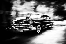 Classic cars black and white