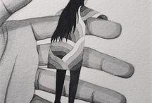 ilustração, preto & branco