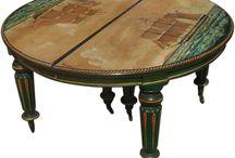 mahogany coffee table refurbish