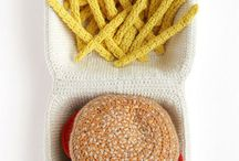 Realistic crochet food — вязаная еда / All you need is.. food! You don't want be fat — Eating thread isn't good. Don't and you'll be glad.