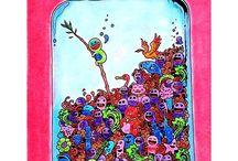 Inwazja bazgrołów Doodle invasion Kerby Rosanes Zifflin / Inwazja bazgrołów Doodle invasion Kerby Rosanes Zifflin  coloring book for adult