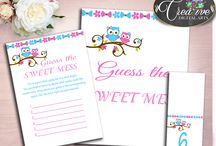 Baby Shower Products in Little Owl Theme, Invitations, Games, Decorations And More / Hi, thank you for visiting this beautiful baby shower board with products in Owl theme. Here, you'll find invitations, games and activities, decorations and more with over 60 products in this theme.