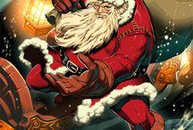 """Tutti amano Babbo Natale / Una collezione di immagini di Babbo Natale """"sui generis"""". Alternativi, provocatori, irriverenti o semplicemente curiosi. Da ripescare e riciclare sotto le feste."""