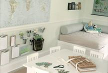 Beautiful homeschool spaces / Learning spaces that don't take over the home. Beautiful homeschool rooms that keep the house feeling like a home, not a classroom. Homeschooling in a small house, where there is no space for a homeschool room.