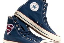 All stars superman shoes / These cool chuck Taylor all star high tops with superman logo