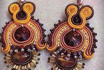 orecchini soutaches earrings