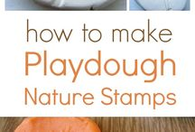 Playdough (Playcentre) / Playdough is a safe and soothing material and provides children with a great sense of security – it cannot be 'done wrong' and is a satisfying sensory experience. Children can help you make playdough.  One of the 16 areas of play at Playcentre
