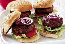 Burgers / Burgers: beef burgers, chicken burgers, fish burgers, veggie burgers, any kind of burgers!