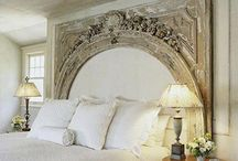 Architectural Salvage Ideas / I've always loved architectural salvage. I've written pieces about clever ways to use it to turn your home into a unique show place. A vintage mantel or door can make a great headboard. See the other home decor possibilities!
