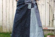 jeans skirt diy