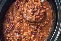 Slow cooker double beef and bean chilli