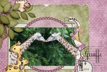 """Dottie & Brad at the Zoo Digital Scrapbooking Collection by Kathryn Estry and Kristmess / """"Kits4Kids"""" is a partnership between Kathryn Estry and Kristmess to bring you kits just perfect for kids. Miss Dottie Spots and Mr. Brad Plaid are back, and this time they're seeing all of their favorite animals at the zoo!"""
