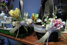 amazing creations!!!! / baskets with flowers....