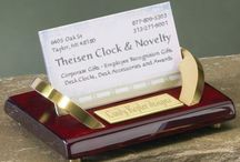 Desk Accessories / Personalized Desk Accessories including engraved  Business Card holders, Paperweights, Gavel Sets, Picture Frames Clocks, Pen Holders, Engravable Picture Frames, Desk Clocks and Desk Wedges at http://www.theisenclock.com/desk_accessories.html