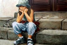 Children in ART / Paintings and sculptures / by Harma Hommad
