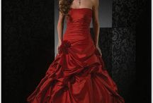 Red Wedding Dresses / A collection of red wedding dresses for the bride looking to stand out from a crowd.