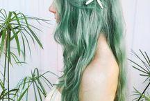 Mermaid hair, don't care! / Salty, beachy waves mermaids wake up with.