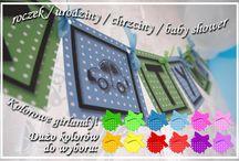 Girlanda / Baner / Kolorowa girlanda / baner z dowolnym napisem na roczek, urodziny. Bardzo fajna dekoracja na przyjęcie dziecka. Więcej na www.cardsdesign.pl  Zaproszamy!