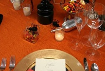 Happy Halloween!  / Lovely table inspiration for your home, work, or school parties! What's better? Since our items are linen - you can reuse and reinvent them for years to come!
