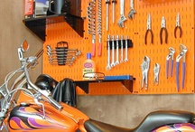Garage Storage Ideas / A gallery of garage storage ideas and garage organization ideas with Wall Control metal pegboard