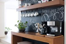 coffe bar in home