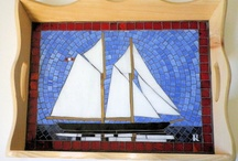 Glass Mosaic Art / Recent works all constructed with stained glass glued unto a base