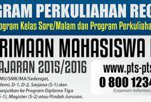 Kuliah Karyawan dan Kelas Reguler / Telp          :  08111104824, 08111104825, 08111104826, 08111104827. HP/SMS  :   0812 9526 2009, 0815 14578119, 0815 9655695 FB            :   http://www.facebook.com/perkuliahan.karyawan Follow on Twitter @kuliahkaryawan  Pin BB     :   2B9D5E85, 2B444609,  29E9E651 Website  :    http://kuliah-karyawan.com   http://p2k.co.id  http://reguler.co.id      http://infoptsterbaik.com