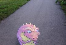 Chalk art / Super cool