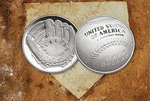 Baseball Coins from the US Mint 75th Anniversary Baseball Hall of FAME / Us Coins baseball  first curved coin so there must be a curve when throwing a baseball