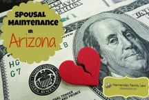 AZ Spousal Maintenance / One of the most hotly contested topics in Arizona divorces is whether spousal maintenance will be awarded, the amount of the award and the duration of the award. This board will help answer some commonly-asked questions on the topic of alimony in Arizona.