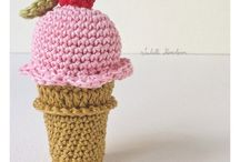 crochet sweets and food