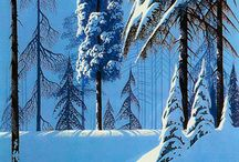 Paintings of Winter / Cold snowy scenes of the winter months. Not my favourite time of year ( I love the sun and warmth! ) but it does inspire some attractive art.