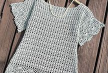 crochet blouses & cardigans