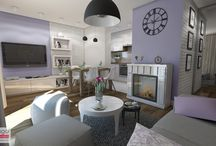 PROJEKT MIESZKANIA INSPIROWANEGO STYLEM PROWANSALSKIM / Pełna uroku oraz elegancji kompozycja stonowanej bieli, pasteli, ciemnego drewna oraz drobnych akcentów wzorów zastosowana we wnętrzu jednej w krakowskich nieruchomości rynku wtórnego . Projekt dotyczył 47,40 m2 mieszkania: salonu, kuchni, sypialni, pokoju do pracy, strefy komunikacyjnej i łazienki.