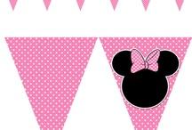 Pink black white