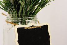 decorate with chalk boards / by Carol Deaville