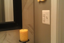 Bathroom Ideas: Gray, Yellow & Black