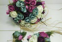 Yapay çiçekler buket modelleri