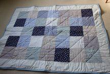 Mine tæpper / Patchwork, strik og hækling
